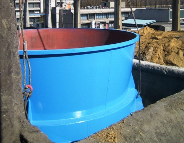 Concrete hopper reactivated by CENTRAC-F